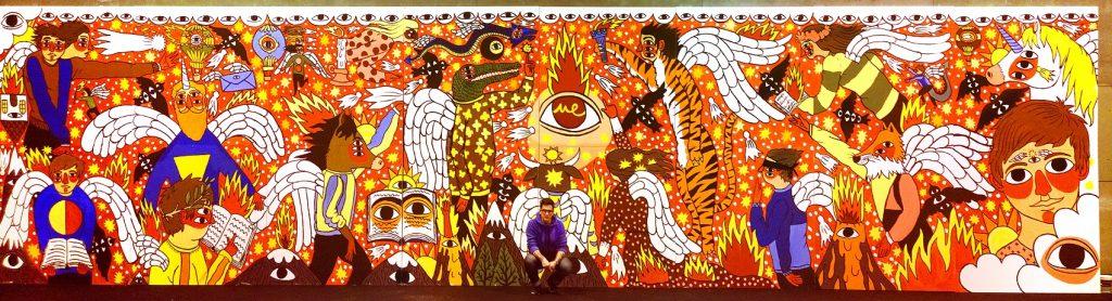 Mural de Ricardo Cavolo. Mulafest 2014