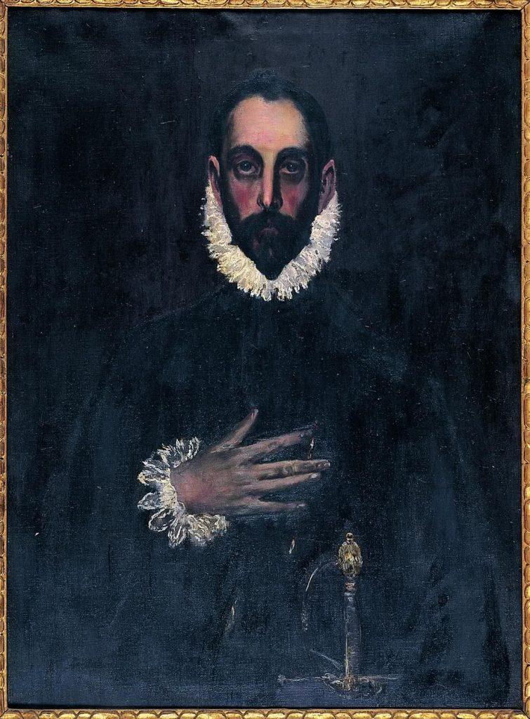 Santiago Rusiñol. Copia de Caballero de la mano en el pecho de El Greco, 1897.