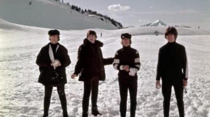 The Beatles en Austria en un 'break' de la filmación de 'Help', el mismo año que la banda tocó en Barcelona (Michael Ochs Archives, 17-3-1965).