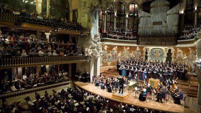 Vista del Palau de la Música Catalana durante el concierto de El Mesías (Foto: Obra Social 'la Caixa')