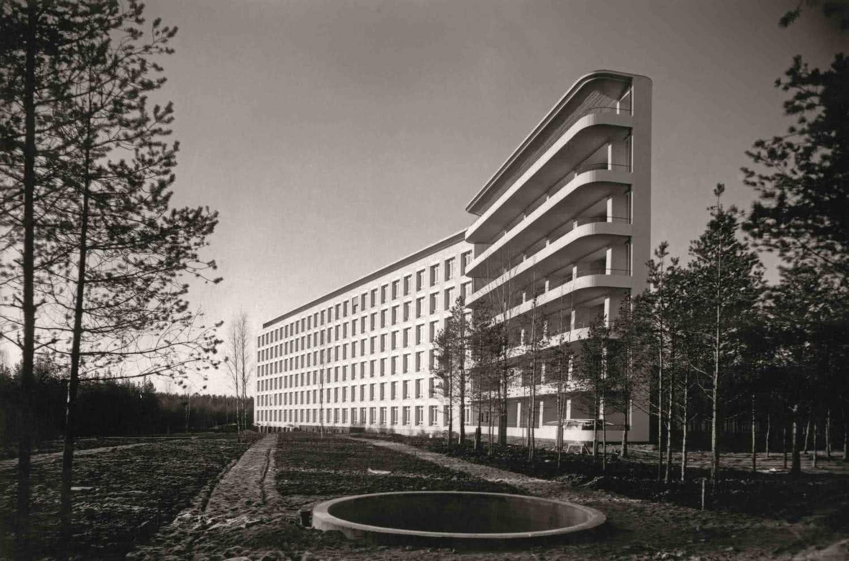 Sanatori de Paimio per a tuberculosos, Finlàndia, Alvar Aalto, 1928-1933 © Alvar Aalto Museum, VEGAP, Barcelona, 2015.