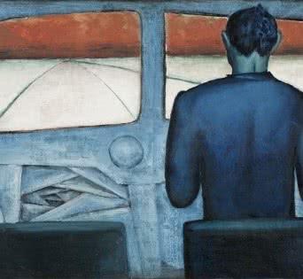Andrzej Wróblewski. Chófer azul, 1948