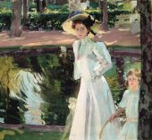 Joaquín Sorolla. María en los jardines de La Granja, 1907