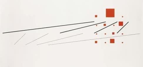 Max Bill. Construcción simultánea de dos sistemas progresivos. 1951. Private Collection, courtesy of Annely Juda Fine Art.