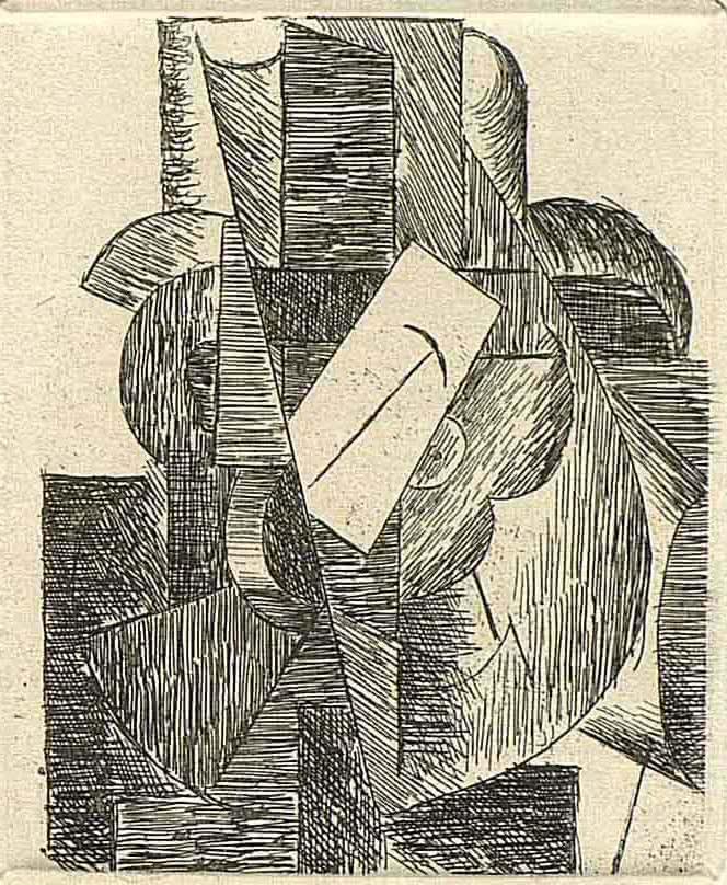 Pablo Picasso. Hombre con sombrero, 1914