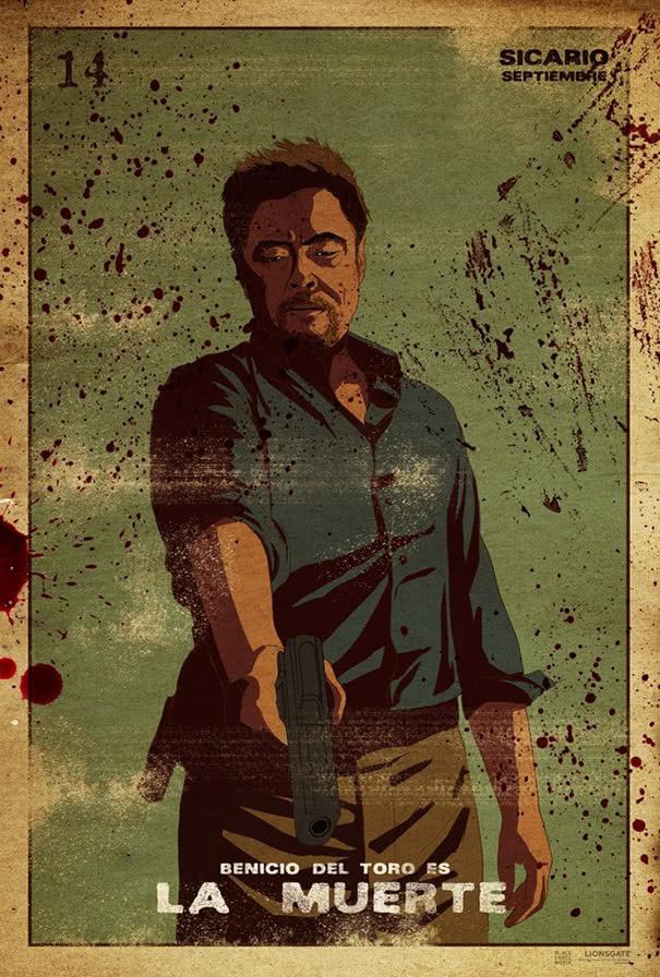 Sicario poster Benicio del Toro