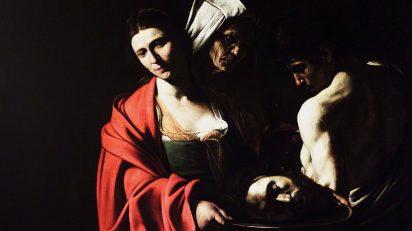 Salomé con la cabeza del Bautista (1606-1607). Michelangelo Merisi da Caravaggio (1571-1610). Palacio Real de Madrid.
