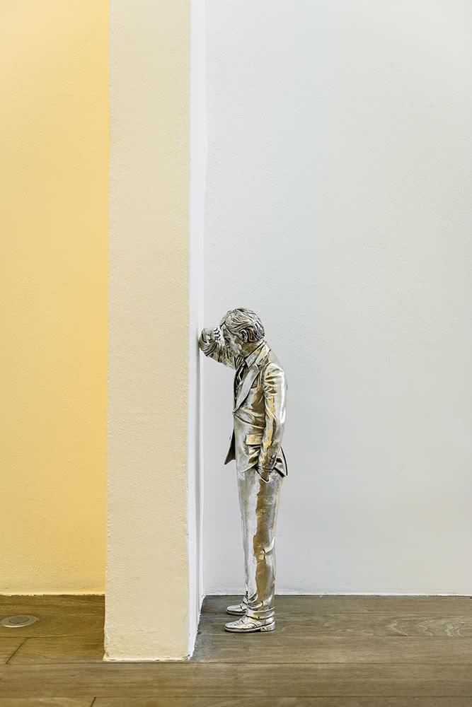 'Silver Lamento', 2015. Gonzalo Lebrija. Plata 60 cm aprox. Marfa Contemporary.