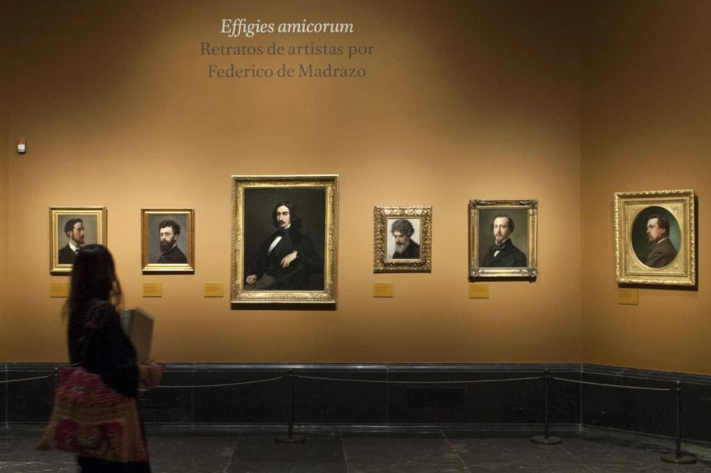 Imagen en sala de la exposición 'Effigies amicorum. Retratos de artistas por Federico de Madrazo'. Foto © Museo Nacional del Prado.