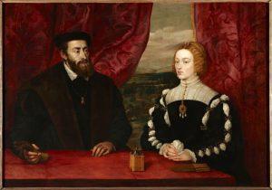 Retrato de Carlos V y la Emperatriz Isabel. Rubens.