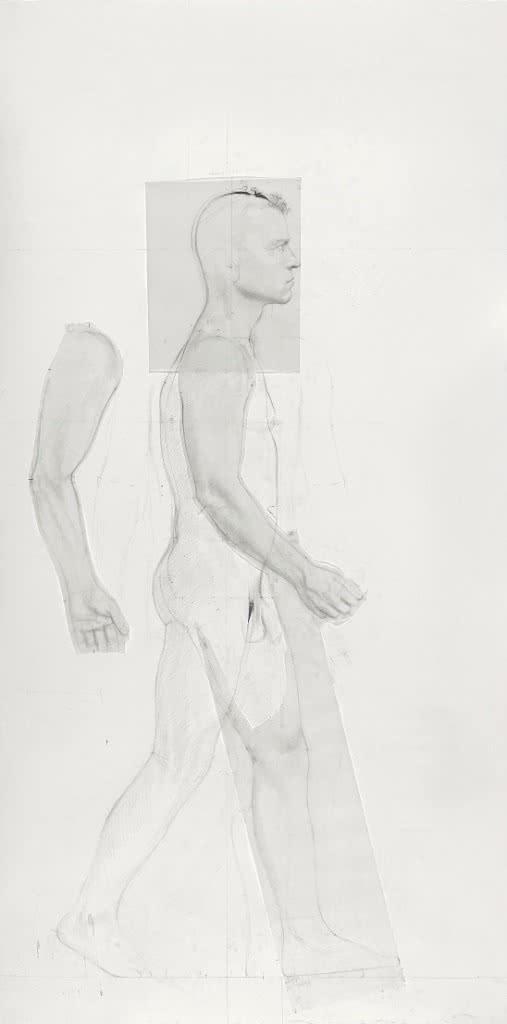 Antonio López. Diferentes movimientos para 'Escultura de hombre andando, Fernando', 2009-2011.