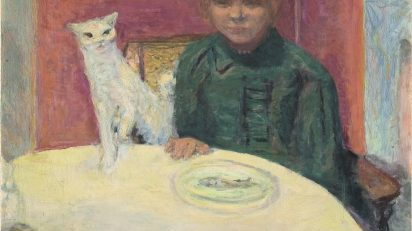 Pierre Bonnard. Mujer con gato, titulado también El gato exigente. Hacia 1912. París, Musée d'Orsay. © Musée d'Orsay, Dist. Rmn-Grand Palais / Patrice Schmidt.