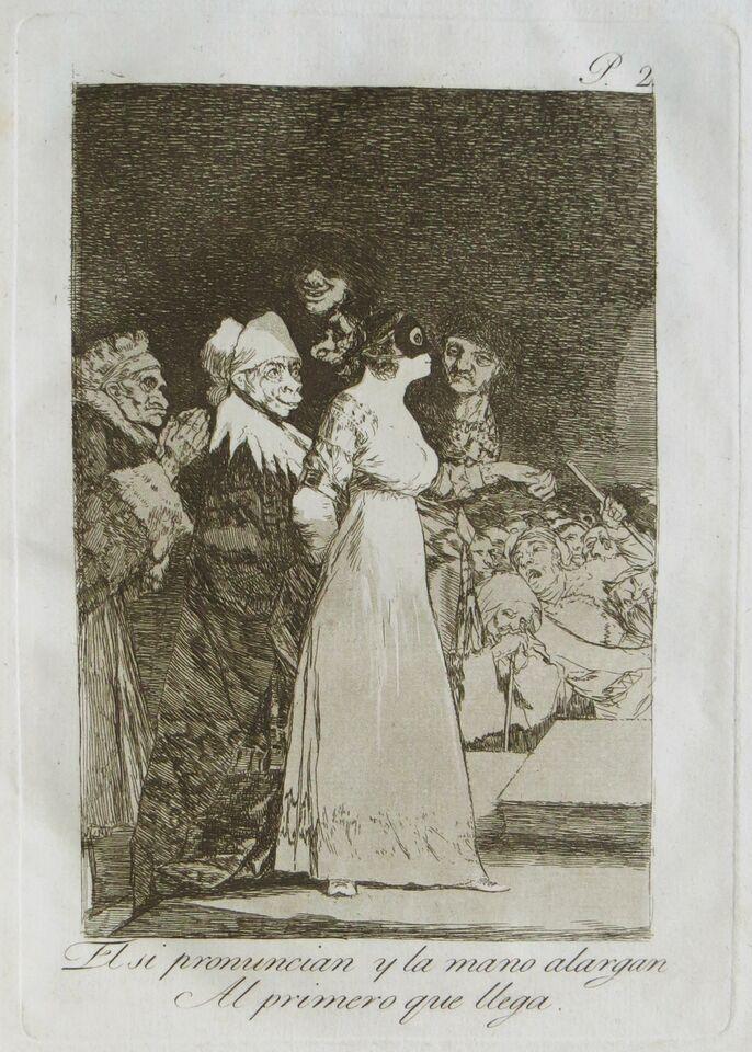 Francisco de Goya y Lucientes. Caprichos, 1799.