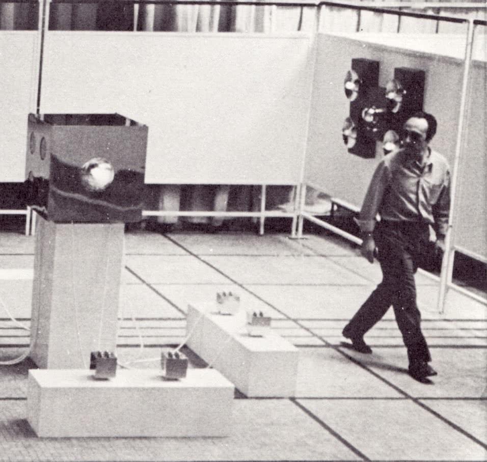 Luis González Núñez 'Lugán' en la Bienal de São Paulo de 1973.