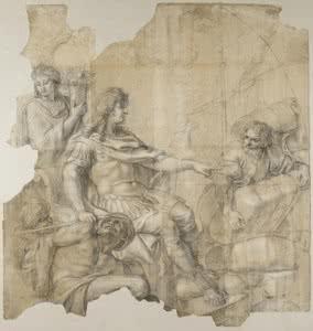 Charles Le Brun, Restablecimiento de la navegación, Museo del Louvre. © RMN-Grand Palais (Musée du Louvre) / Gérard Blot.