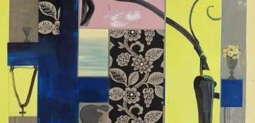 Juan Giralt. 'Zumo de limón' (detalle), 2006. Acrílico y collage sobre lienzo. Colección particular. Imagen: Juan Giralt Ortiz, VEGAP, Madrid, 2015.