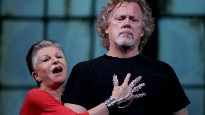 Gregory Kunde (Roberto Devereux) / Mariella Devia (Elisabetta) (Fotografía: Javier del Real / Teatro Real)