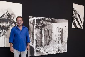 Abraham Lacalle. Exposición 'Pintura bélica' en el CAAM.