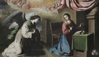 Francisco de Zurbar‡án. 'Anunciaci—ón', um 1650. …l auf Leinwand, 217,5 x 316,2. © Philadelphia Museum of Art: Purchased with the W.P. Wilstach Fund, 1900.
