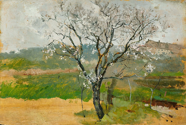 Joaquín Sorolla. Almendro en flor, 1889.