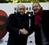 José Luis Alonso, presidente de la AAEE, y Manuel Aguilar, presidente de la Fundación SGAE. Foto: Marta Montes.