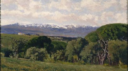 El Guadarrama desde el Plantío de los Infantes. Beruete. 1910. Museo Nacional del Prado.