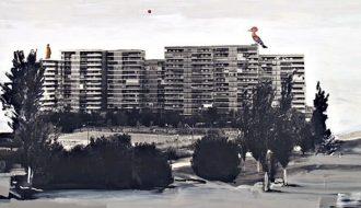 """Juan UGALDE. """"Paisaje Luna Roja"""", 2002. Cortesía de la Galería Moisés Pérez de Albéniz."""