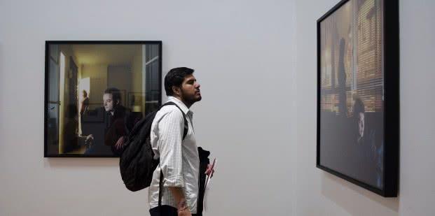 Vista de la exposición 'Retratos. Colección de fotografía de Fundación MAPFRE.
