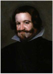 El Conde duque de Olivares. Taller de Diego Velázquez. Óleo sobre lienzo. 57 x 40 cm.