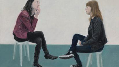 Las hermanas Coto. Óleo sobre lienzo. 73 x 100 cm. 2015.
