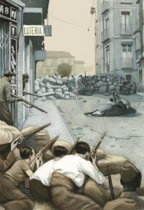 Fernando Vicente. Disturbios en Barcelona.