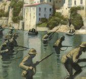 Fernando Vicente. La batalla del Ebro (detalle).