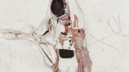Manolo Millares. Homúnculo 3. 1970.
