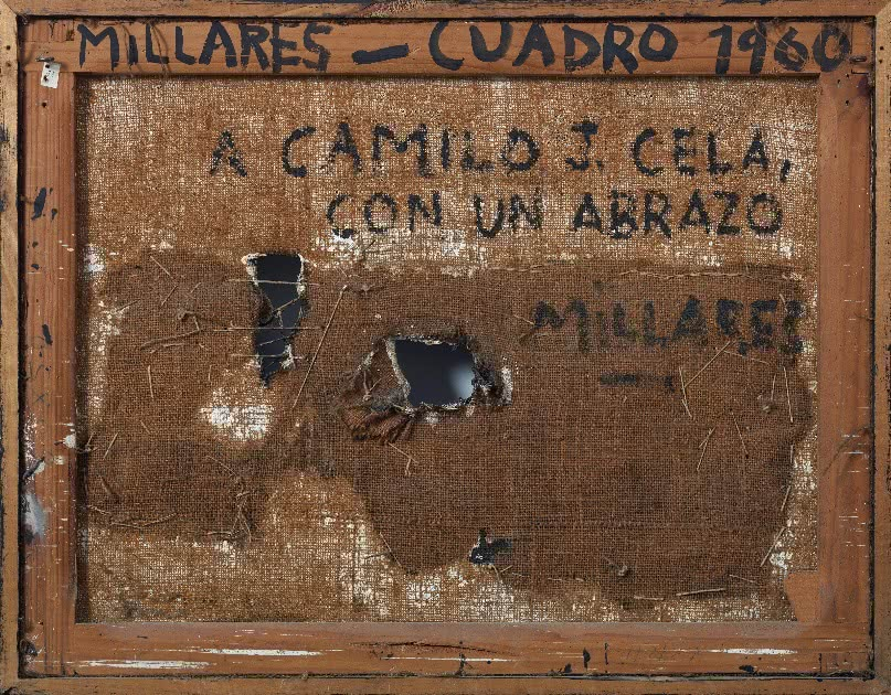 Manolo Millares. Cuadro (reverso). 1960.