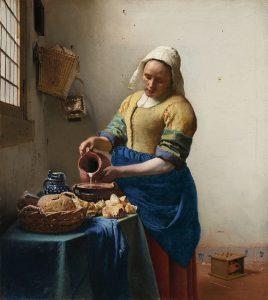 Johannes Vermeer. The Milkmaid, c. 1658–1661. Amsterdam, Rijksmuseum.