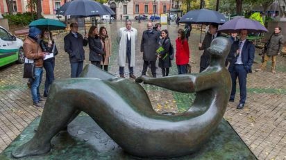 Inauguración de la exposición de Henry Moore.