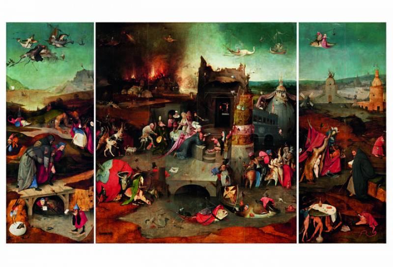 'Tríptico de san Antonio Abad' (1505-1506). El Bosco. Lisboa, Museu Nacional de Arte Antiga.