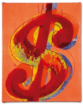 ANDY WARHOL (1928-1987). Dollar Sign. 250.000-350.000 euros. ©2015 The Andy Warhol Foundation for the Visual Art, Inc. / ADAGP 2015, Paris.