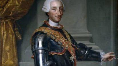 Carlos III, Anton Rafael Mengs, hacia 1765.