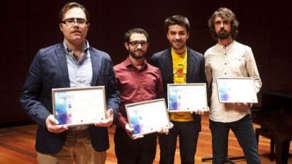 De izquierda a derecha: Marcos Fernández, Francisco José Domínguez, Óscar Escudero y Julio José Niño. Foto: Luis Camacho.