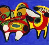 Karel Appel, Le chat, 1951, donation Anthony Denney à la Ville de Toulouse, dépôt aux Abattoirs – Frac MidiPyrénées (1995) © Karel Appel Foundation  Adagp ; Fotografía Auriol Gineste.