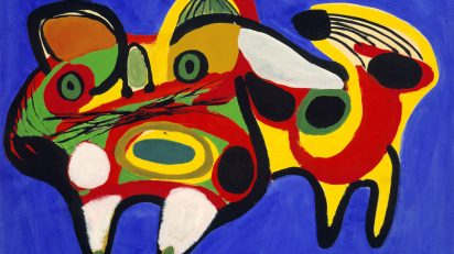 Karel Appel​, Le chat, ​1951, donation Anthony Denney à la Ville de Toulouse, dépôt aux Abattoirs – Frac Midi­Pyrénées (1995) © Karel Appel Foundation ­ Adagp ; Fotografía Auriol­ Gineste.