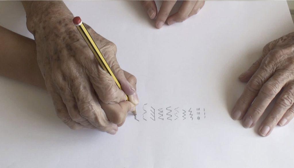 Fotograma del vídeo del proyecto 'Temps vécu' desarrollado en el programa de residencia 'The Gym'. espacio Rampa, Madrid, 2014-2015.