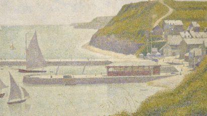 Georges Seurat. Port-en-Bessin, avant-port, marée haute, 1888.
