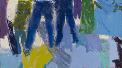 Altzaga: Mucha ropa tendida azul, 1995. Colección Marta Cárdenas.