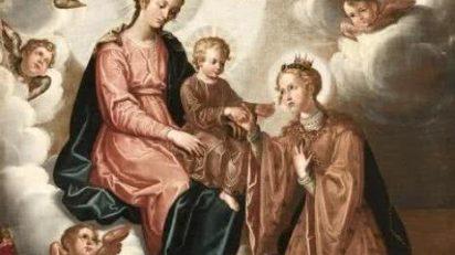 Desposorios místicos de Santa Inés (ca 1628). Francisco Pacheco.