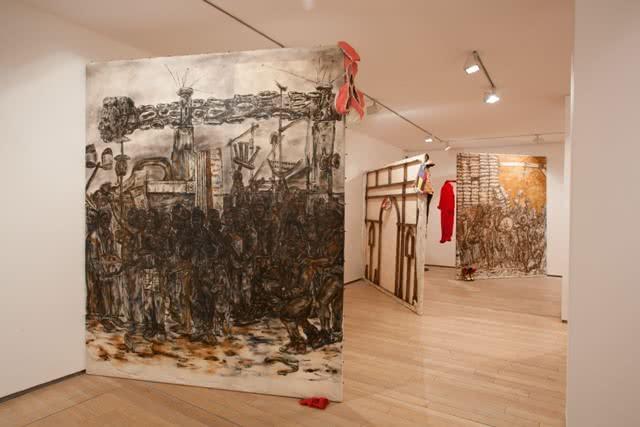 Instalación de Justin Randolph Thompson en la edición 2015 de 'Itinerarios'.