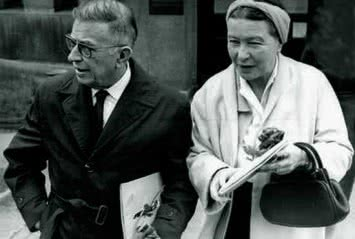 Simone de Beauvoir y Jean Paul Sartre.