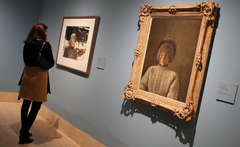 Exposición 'Wyeth: Andrew y Jaime en el estudio. Foto: Sonia Aguilera.