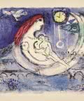 Marc Chagall. Paisaje azul, 1958.